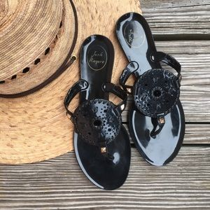 Jack Rodgers Black Jelly Sandals